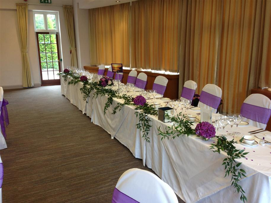 top table wedding flower arrangements by andrew fleming florist